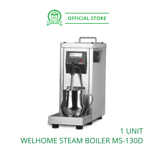 WELHOME WPM STEAM BOILER MS-130D 蒸汽机 - Milk Frother | Stainless steel | Manual