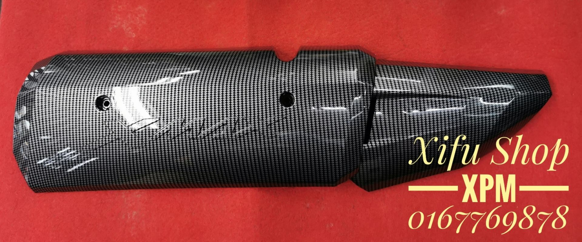 EXHAUST PIPE COVER X MAX 300 CARBON CS-EPC04-CB MEEE