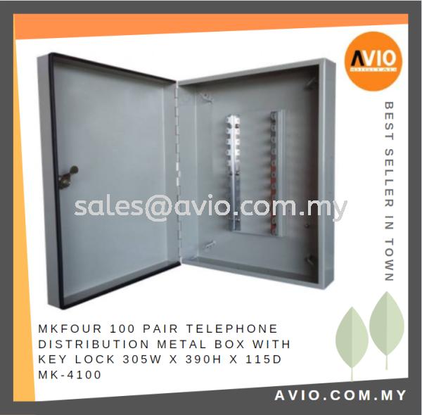 MKFour 100 Pair Telephone Distribution Metal Box with Key Lock 305W x 390H x 115D MK-4100 MK4100 LIGHTNING ISOLATOR Johor Bahru (JB), Kempas Supplier, Suppliers, Supply, Supplies   Avio Digital