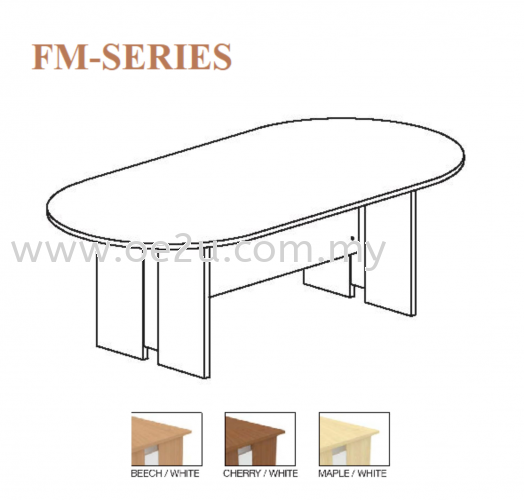 Oval Shape Conference Table c/w Chipboard Leg (FM Series)