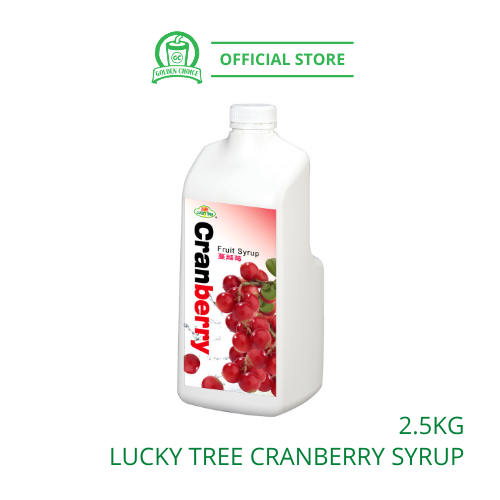 CRANBERRY Concentrate Syrup 2.5kg LUCKY TREE 福树蔓越莓果汁 - Taiwan Import | Fruit Tea | Fruit Juice