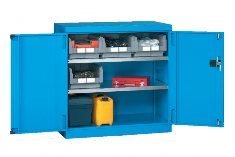 1023 x 555 x 1000(h)mm Professional Heavy Duty Twin-Door Cabinet with Double Shelves (Model 1)