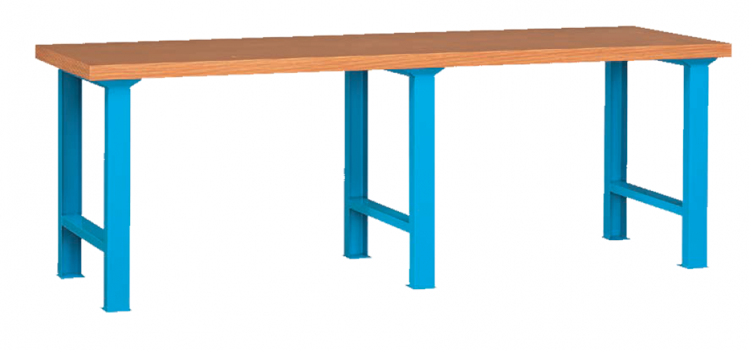 Professional Heavy Duty Standard Type Double-Section Working Bench with Beech Desktop