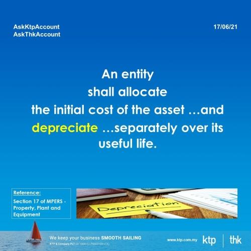 Provision of depreciation