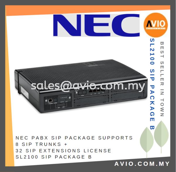 NEC PABX SIP Keyphone Package Set Supports 8 SIP Trunks + 32 SIP Extension License SL2100 SIP Package B Keyphone Package PABX / KEYPHONE SYSTEM Johor Bahru (JB), Kempas Supplier, Suppliers, Supply, Supplies   Avio Digital