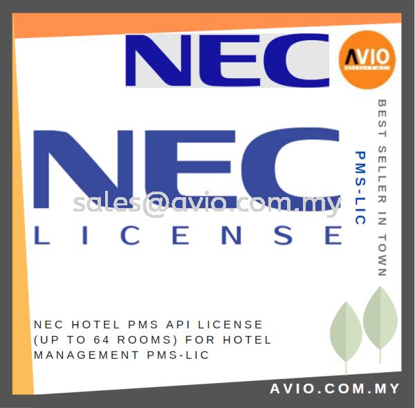 NEC Hotel PMS API License up to 64 rooms for Hotel Management PMS-LIC NEC Accessories PABX / KEYPHONE SYSTEM Johor Bahru (JB), Kempas Supplier, Suppliers, Supply, Supplies   Avio Digital