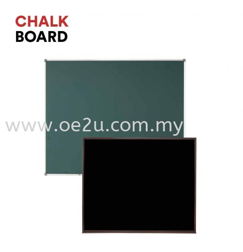 Classic Wooden Frame Chalk Board (Non-Magnetic Black Surface)