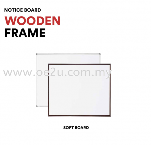 Classic Wooden Frame Notice Board (Soft Board)