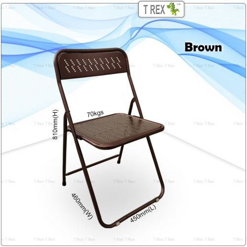 3V IF Steel Folding Chair - Brown