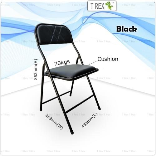 3V IF Cushion Folding Chair - Black