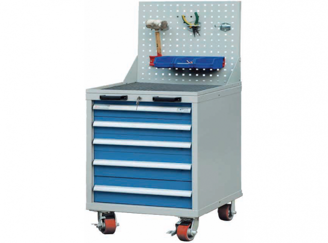 717*572*870mm Roller Cabinet with Tool Panels