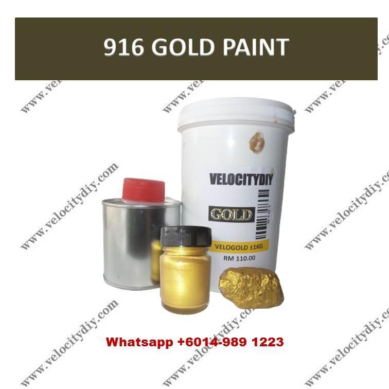 (916水性金漆)916 Water Base Gold Paint/Cat Emas 1kg & 250gm
