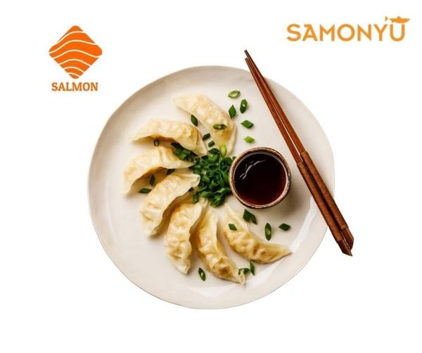 Salmon Dumpling 三文鱼锅贴饺子 (6pcs /pkt) *Recommend* 新品上架 New Item  Selangor, Malaysia, Kuala Lumpur (KL), Batu Caves Supplier, Suppliers, Supply, Supplies | Samonyu Sdn Bhd