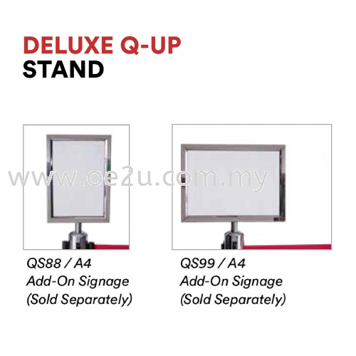 Add-On Signages (Compatible with Deluxe Q-Up Stand)