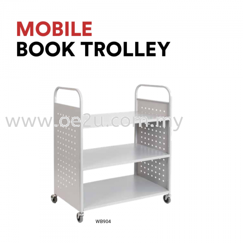 Mobile Book Trolley (WB904)