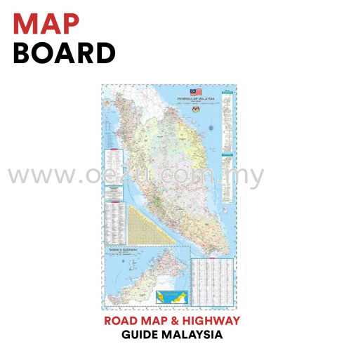 Map Board (Road Map & Highway Guide Malaysia)