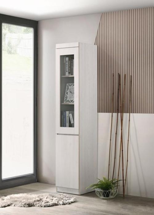 Whitewash Modern Display Bookcase (1'ft) - SABC2851