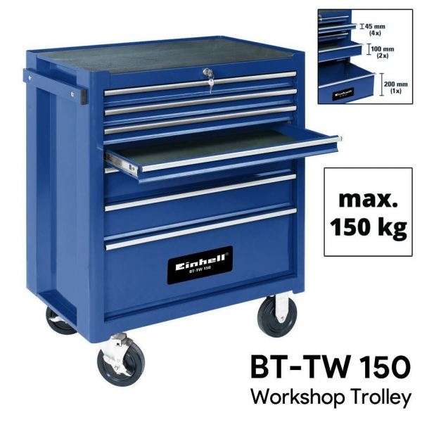 EINHELL WORKSHOP TROLLEY AND WAGON C/W 3 DRAWERS LOAD CAPACITY: 150KG, WEIGHT: 52.50KG TOOL / STORAGE BOX MANUAL TOOLS Singapore, Kallang Supplier, Suppliers, Supply, Supplies   DIYTOOLS.SG