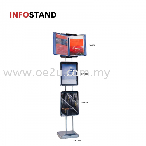 InfoStand (Without Pivoting Pockets)