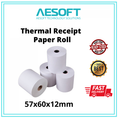 Thermal Receipts Paper Roll With Core 【57X60MM】