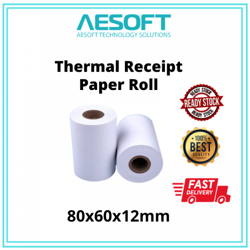 Thermal Receipts Paper Roll With Core 【80X60MM】