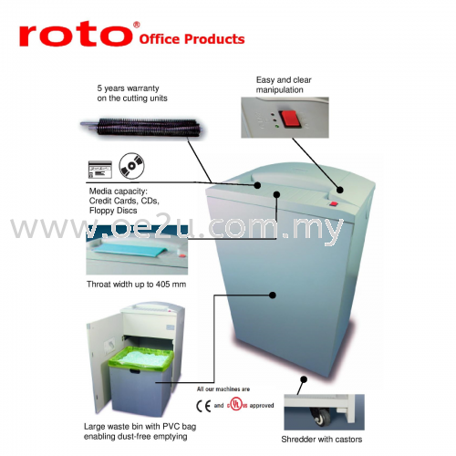 ROTO S700 CC-3 Paper Shredder (Cross Cut: 3.8x40 mm)_Made in Germany