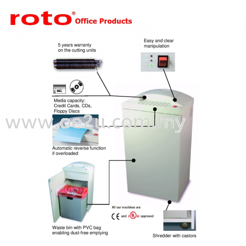 ROTO S500 CD Paper Shredder (Strip Cut: 5.8mm)_Made in Germany