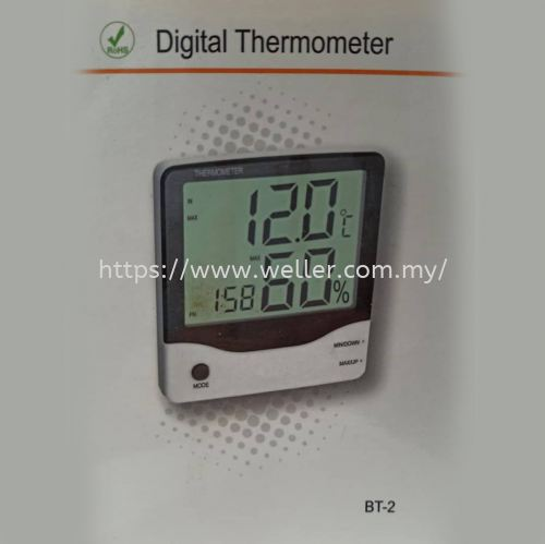 ELITECH BT-2 THERMOMETER AND HYGROMETER