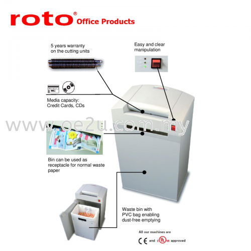 ROTO S300 CC-4 Paper Shredder (Micro Cut: 1.9x15 mm)_Made in Germany