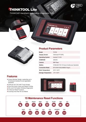 Auto Diagnosis scanner Thinktool Lite Malaysia