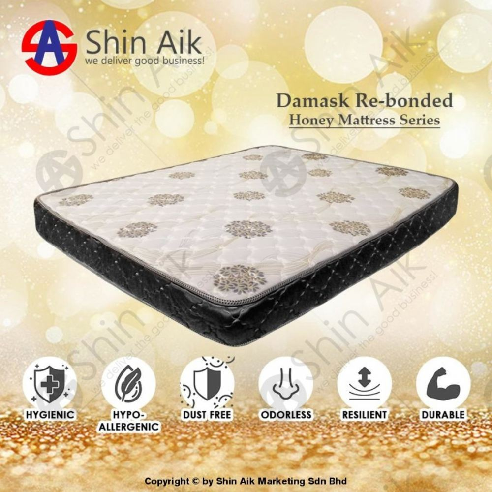 6' Inches Damask Re-Bonded Two-tone Double Mattress - HONEY06
