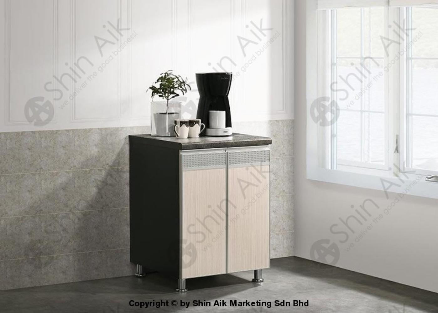 Ash & Grey Two-Tone Modular Low Kitchen Cabinet (2'ft) - SA3318-223