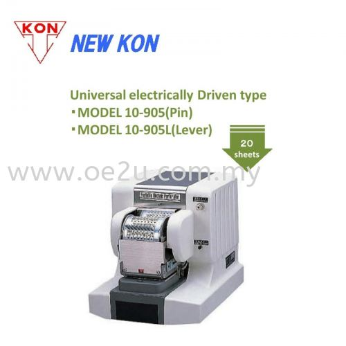 NEW KON 10-905L Electric Lever Perforator (Double Line 10-Digit Perforator: Date / Numbers)