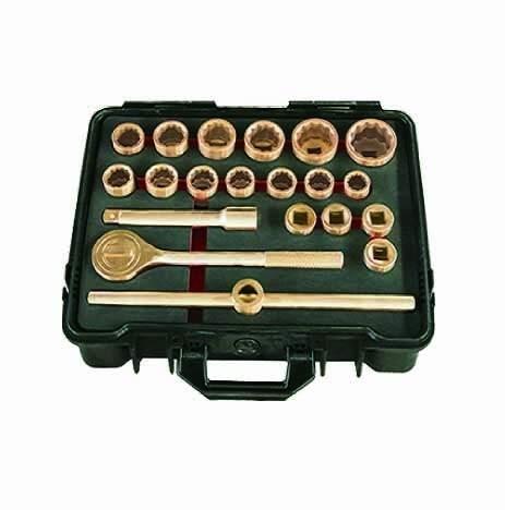 """20Pc Metric 3/4"""" Dr. Safety Socket Set - Al-Br"""