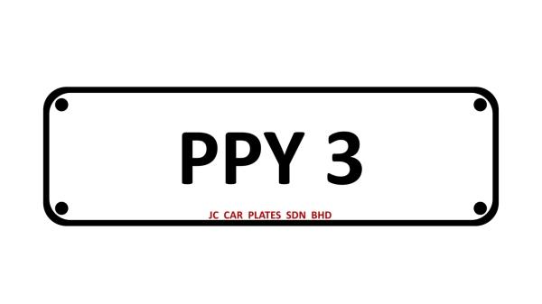 PPY 3 Golden Number Selangor, Malaysia, Kuala Lumpur (KL), Johor Dealer, Supplier, Supply, Supplies | JC Car Plates Sdn Bhd