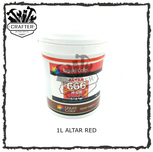 1L ALTAR RED / SIGNATURE RED ACRYLIC WATER BASE PAINT