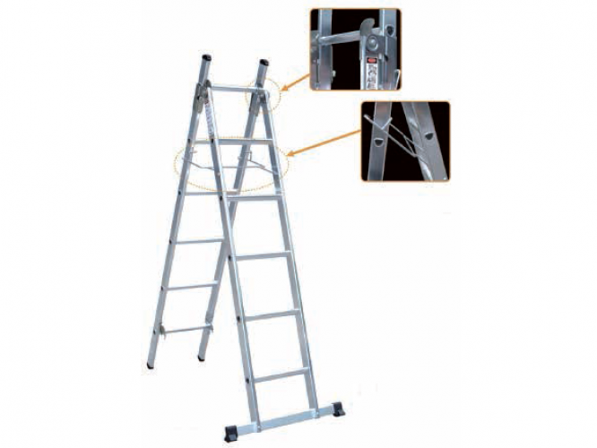 170-250cm Industrial Double Section Aluminum Ladders