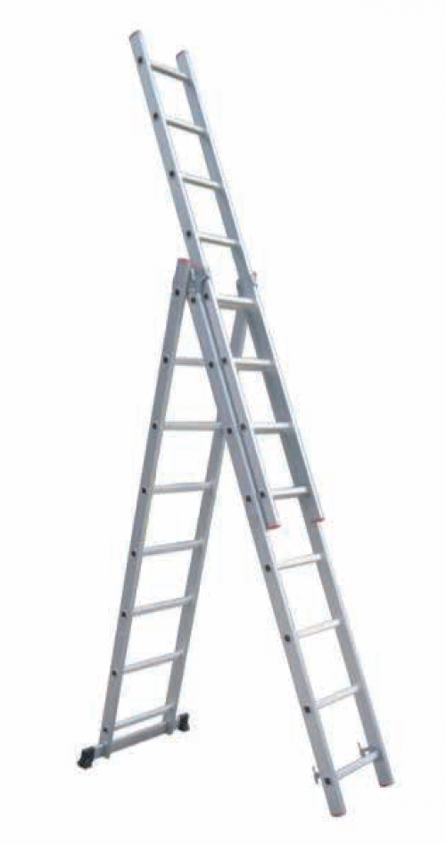 Industrial 3-Section Aluminum Ladders