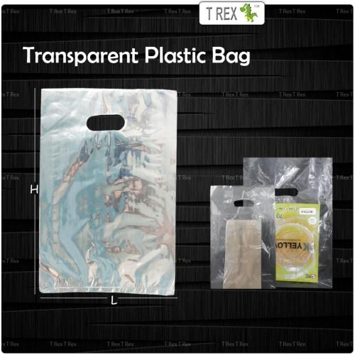 Transparent Plastic Bag with Handle (5 Sizes)