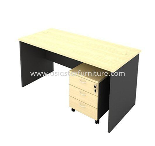 4' Office Table/desk | Study Table | Computer Table c/w Mobile Pedestal 3D (Color Maple) - study/office table Kuchai Lama | study/office table Bangsar | study/office table Kelana Jaya | study/office table Cheras | study/office table Ampang