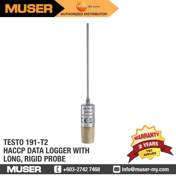 testo 191-T2 HACCP Temperature Data Logger with Long, Rigid probe HACCP Data Loggers Data Loggers / Monitoring System Kuala Lumpur (KL), Malaysia, Selangor Supplier, Suppliers, Supply, Supplies   Muser Apac Sdn Bhd