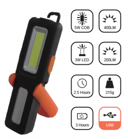 LED Work Light - USB Rechargeable