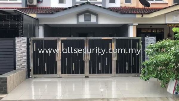 Stainless Steel Trackless Folding Gate with with AST 211TL Trackless System Trackless Folding Gate Stainless Steel Gate Singapore, Malaysia, Johor, Selangor, Senai Manufacturer, Supplier, Supply, Supplies   AST Automation Pte Ltd