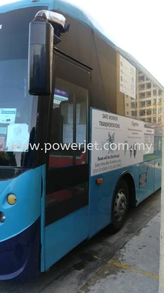 Bus Sticker STICKER  Puchong, Selangor, Malaysia Supply, Design, Installation | Power Jet Solution Sdn Bhd