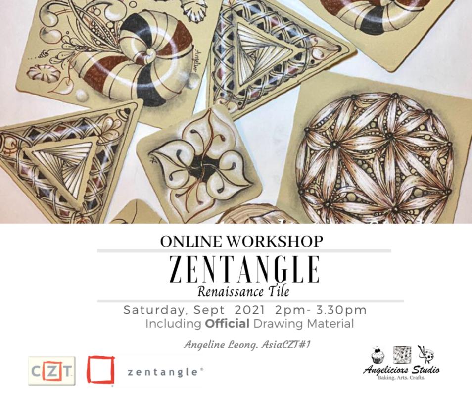 Zentangle Renaissance Tile