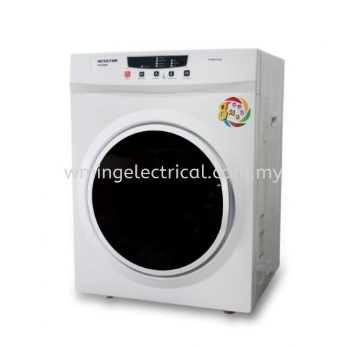 Hesstar 8KG Tumble Dryer with Electronic Control Panel Variable Heat & Timer Setting Stainless Steel Drum HTD-80D