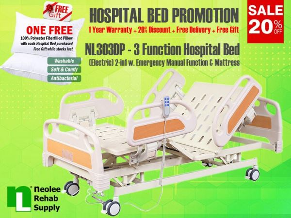 NL303DP Hospital Bed 3 Functions (Electric) Electric Powered Hospital Beds Hospital Beds Kuala Lumpur, KL, Cheras, Selangor, Malaysia. Supplier, Suppliers, Supplies, Supply | Neolee Rehab Supply Sdn Bhd