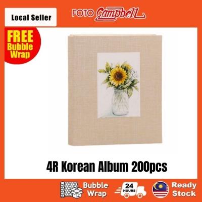 4R-200pcs fabric cover Pocket AlbumReady Stock--- sunflower
