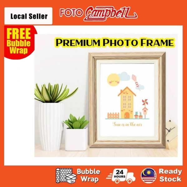 4R 5R 6R 8R Photo Frame Wooden Design(Ready Stock) Frame Selangor, Malaysia, Kuala Lumpur (KL), Shah Alam, Klang Supplier, Suppliers, Supply, Supplies   Foto Campbell