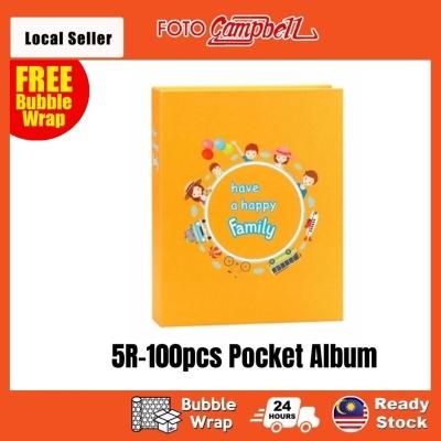5R-100/200pcs  pocket Photo Album Ready Stock